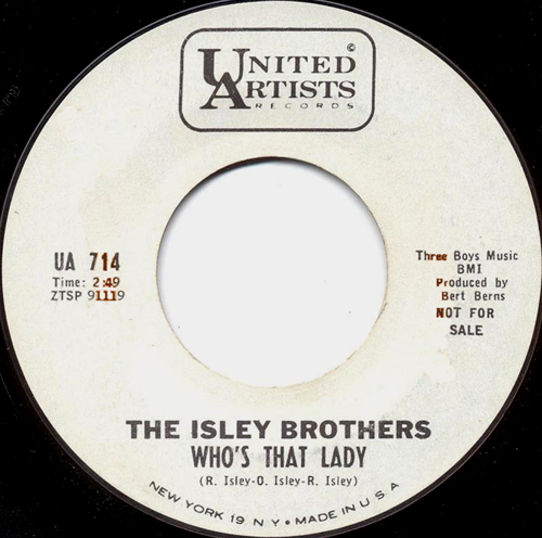 Art for Who's That Lady by The Isley Brothers