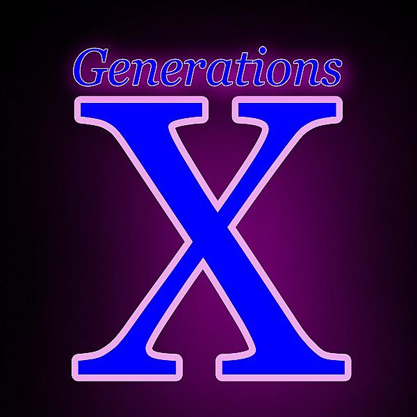 70s, 80s, 90s, 00 - Generations X logo