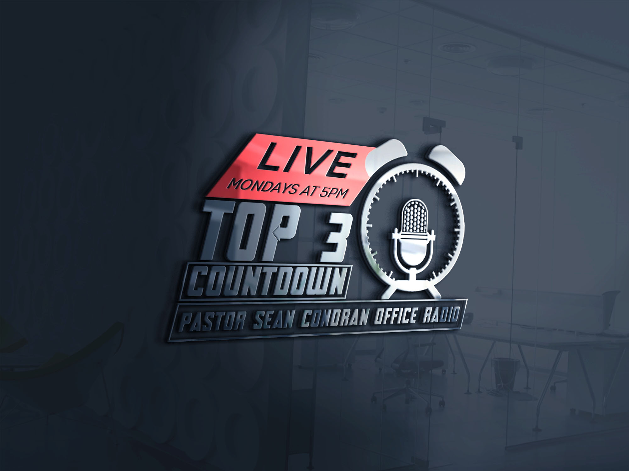 Art for Top 3 Count Down Show Promo by www.pastorseancondranoffice.org/radio