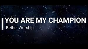 Art for You Are My Champion Dante Bowe Bethel Music  by Dante Bowe