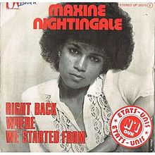 Art for Right Back Where We Started From by Maxine Nightingale