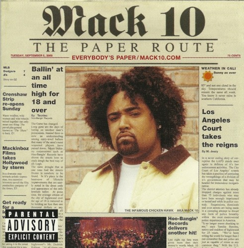 Art for I'm Dope by Mack 10