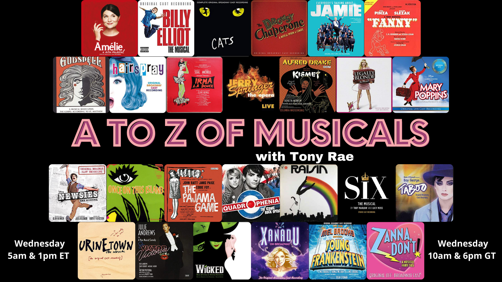 Art for A to Z of Musicals by Host: Tony Rae