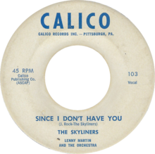 Art for Since I Don't Have You by The Skyliners
