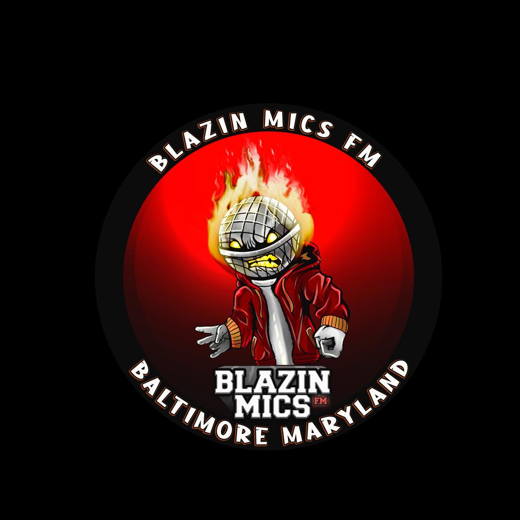 Blazinmicsfm logo