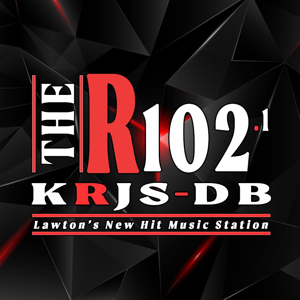 KRJS-DB 102.1 The R logo