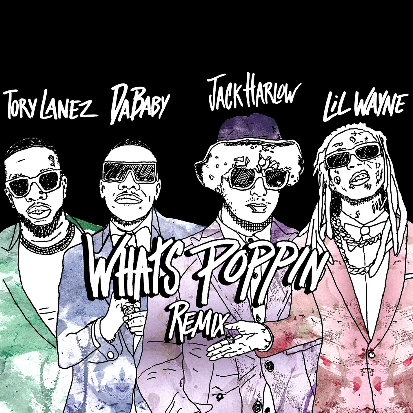 Art for WHATS POPPIN (Remix) [feat. DaBaby, Tory Lanez & Lil Wayne] by Jack Harlow