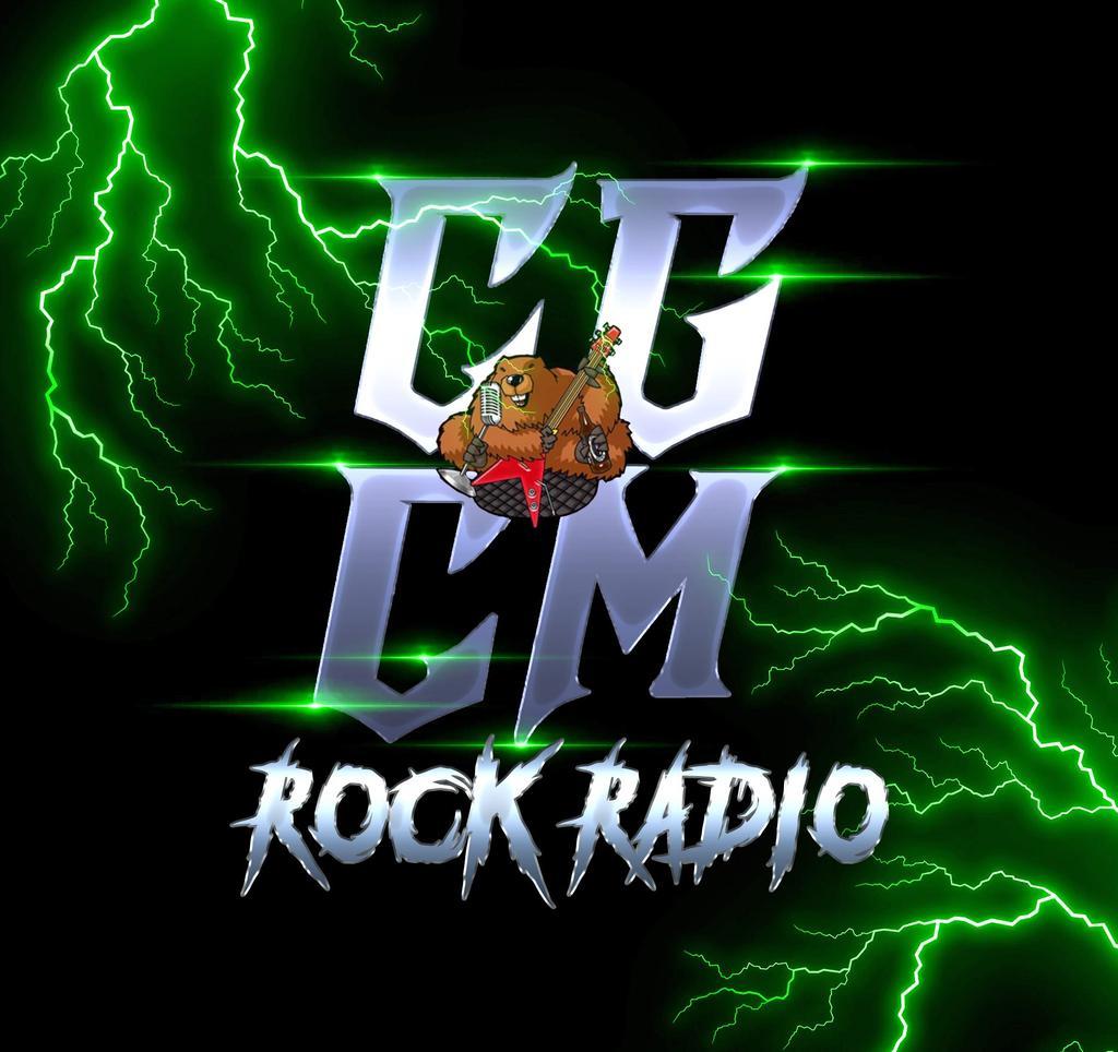 "CGCM Radio-""What Rock Radio Should Be!"" logo"
