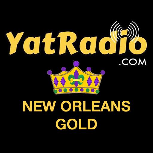 Yat Radio - New Orleans Gold logo