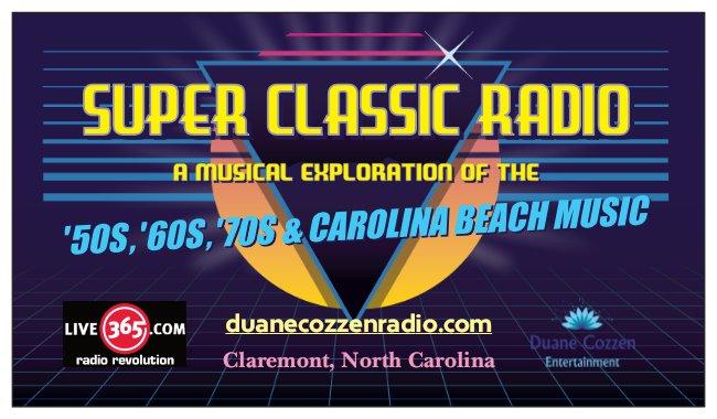 Super Classic Radio ('50s, '60s, '70s and Carolina Beach) logo
